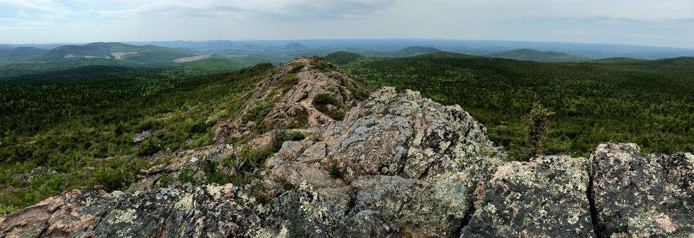At the summit of Mount Carleton